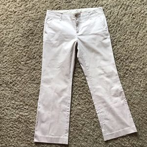 Khakis Pants with cropped hem